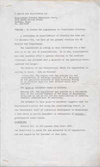 Mississippi Freedom Democratic Party Legislature Document