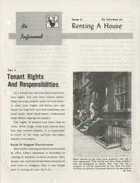 Be Informed, Renting A House, Part 3