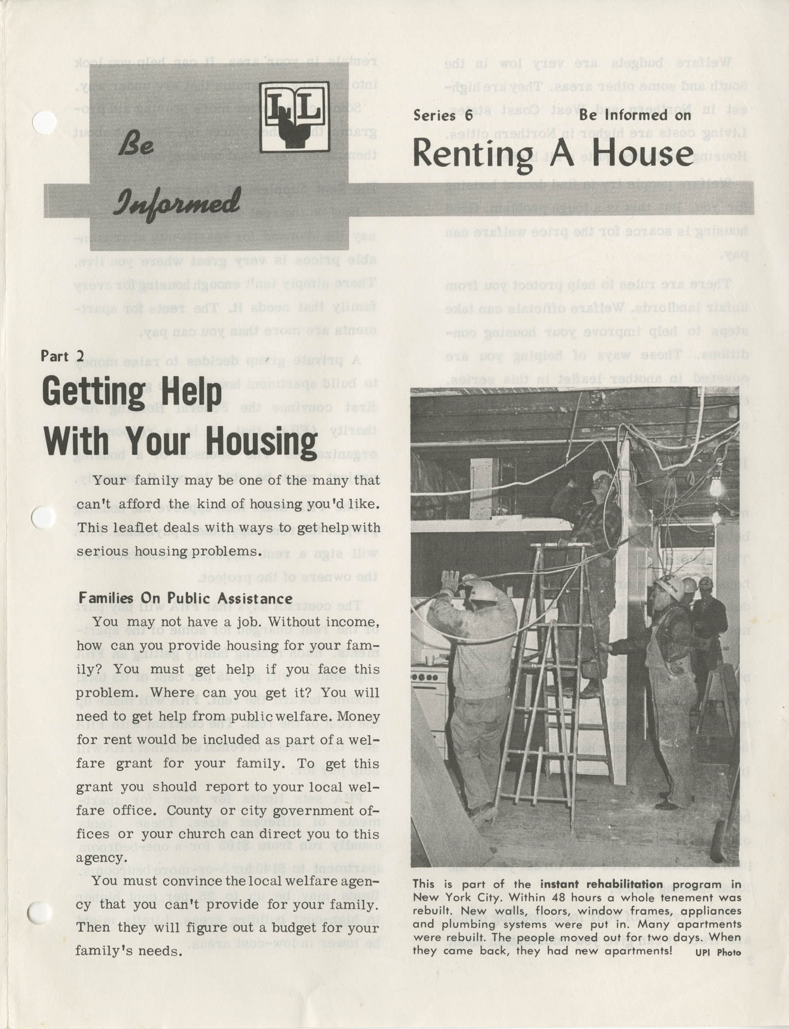 Be Informed, Renting A House, Part 2