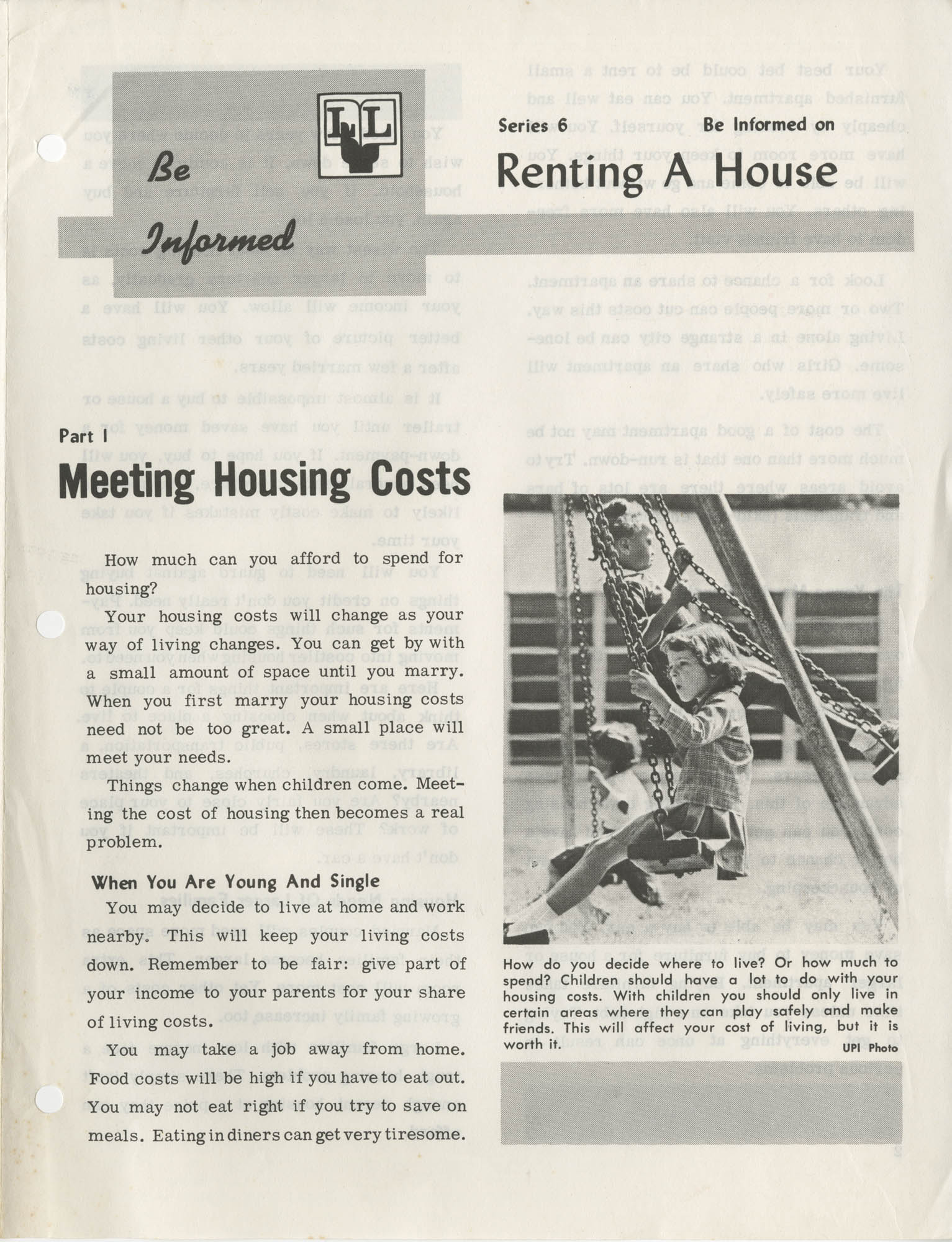 Be Informed, Renting A House, Part 1