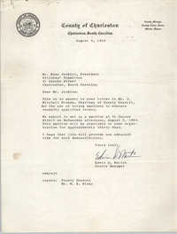 Letter from Edwin D. Martin to Esau Jenkins, August 4, 1964