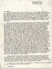 Letter from Bernice Robinson to Myles Horton, November 15, 1959