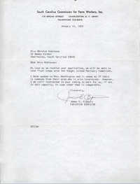 Letter from James E. Clyburn to Bernice Robinson, January 12, 1970