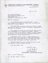 Letter from Ruth Gilbert to Bernice Robinson, May 13, 1970