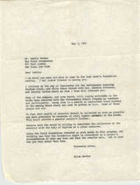 Letter from Myles Horton to Leslie Dunbar, May 7, 1970