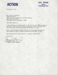 Letter from Joseph F. Bass, Jr. to Bernice Robinson, November 8, 1971