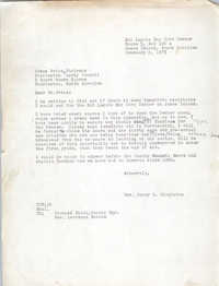 Letter from Henry D. Singleton to James Price, February 2, 1973