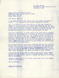 Letter from Bernice Robinson to Peter Mark Kariuki Wachira, January 2, 1973