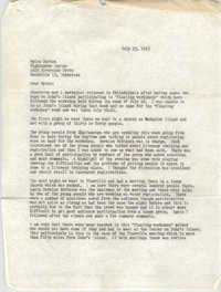 Letter from Stewart Meacham to Myles Horton, July 23, 1965