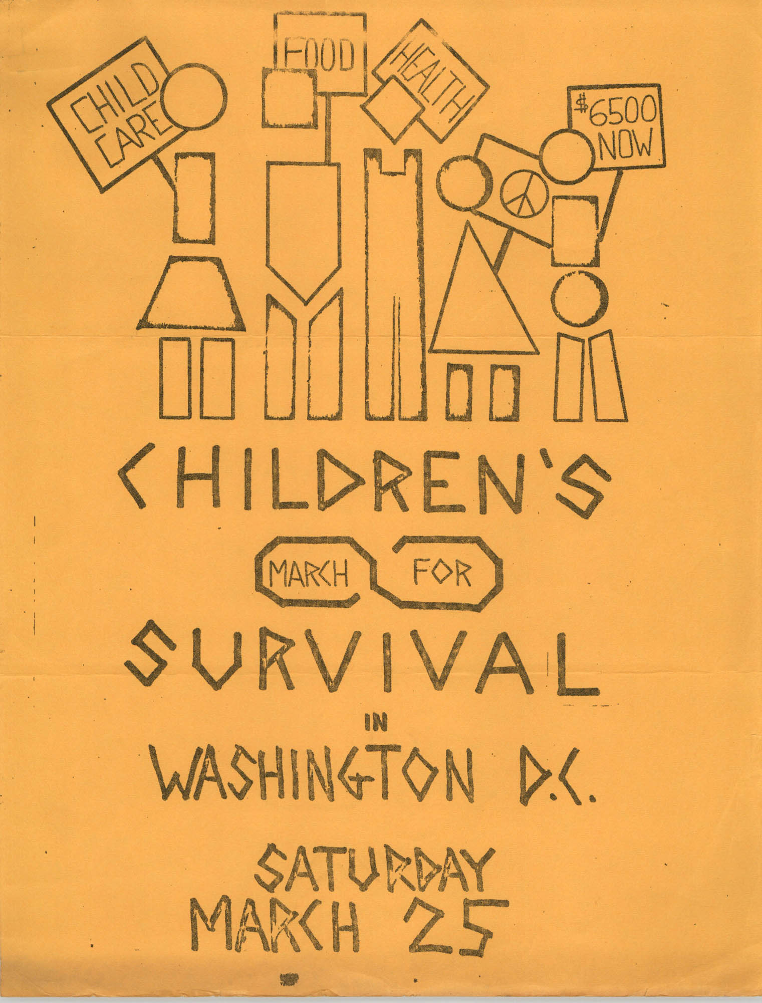 Children's March for Survival Flyer
