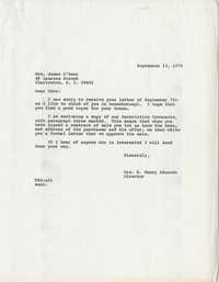 Letter from Mrs. S. Henry Edmunds to Mrs. James O'Hear (Edna)