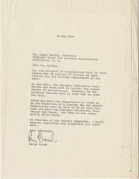 Letter from Perry Woods to James Biddle