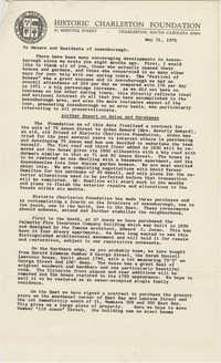 Letter from Mrs. S. Henry Edmunds to owners and residents of Ansonborough