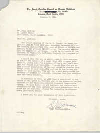 Letter from L. S. James to Esau Jenkins, October 3, 1968