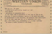 Western Union Telegram from Joseph E. Lowery to Esau Jenkins, July 1, 1968