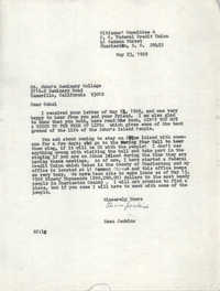 Letter from Esau Jenkins to St. John's Seminary College, May 23, 1969