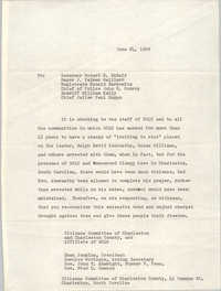 Letter from Esau Jenkins to South Carolina Leaders, June 24, 1969