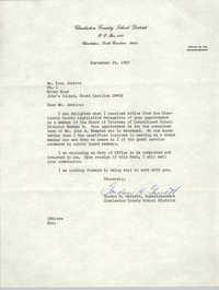 Letter from Gordon H. Garrett to Esau Jenkins, September 25, 1969