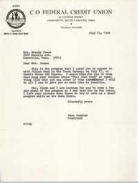 Letter from Esau Jenkins to Brenda Jones, July 14, 1969