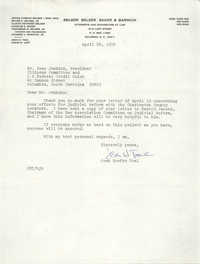 Letter from Jean Hoefer Toal to Esau Jenkins, April 24, 1972
