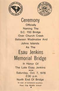 Esau Jenkins Memorial Bridge Ceremony Announcement and Program