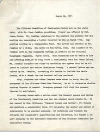 Citizens' Committee of Charleston County Meeting Minutes, March 24, 1971