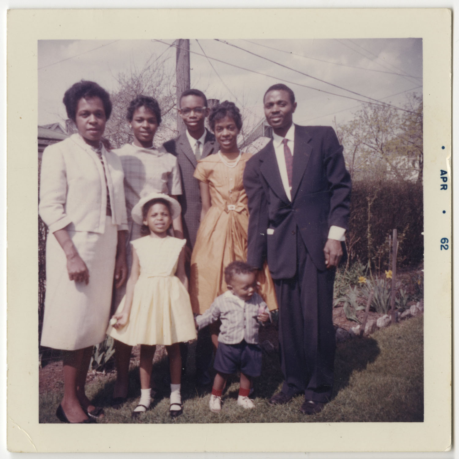 Evan Mae Sudderth and Family, April 1962