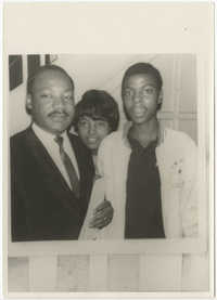 Martin Luther King, Jr. with Young Woman and Man
