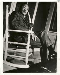 Martin Luther King, Jr. Sitting on Rocking Chair