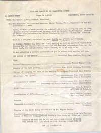 Memorandum from Esau Jenkins to Citizens of Charleston, 1965