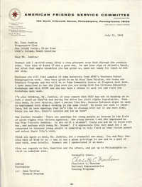 Letter from Charlott C. Meachum to Esau Jenkins, July 22, 1965