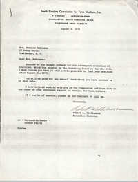 Letter from Robert L. Williamson to Bernice Robinson, August 3, 1971
