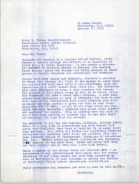 Letter from Bernice Robinson to Leslie Dunbar, October 11, 1972