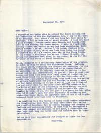 Letter from Bernice Robinson to Myles Horton, September 26, 1972