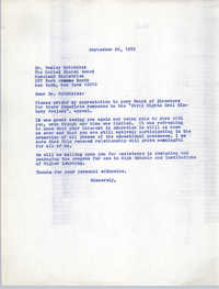 Letter from Bernice Robinson to Wesley Hotchkiss, September 26, 1972