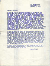 Letter from Bernice Robinson to