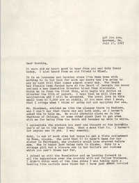 Letter from Ellene Jurgens to Bernice Robinson, July 17, 1967