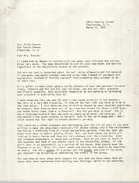 Letter from Bernice Robinson to Wilma Reusch, March 12, 1970