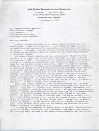 Letter from Karney Platt to Stephen Mackey, September 3, 1970