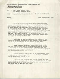 Memorandum from Laura M. Martinez to VISTA Staff, February 27, 1970
