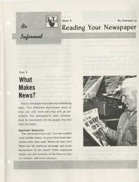 Be Informed, Reading Your Newspaper, Part 5