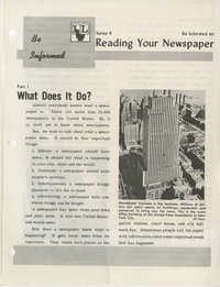 Be Informed, Reading Your Newspaper, Part 1