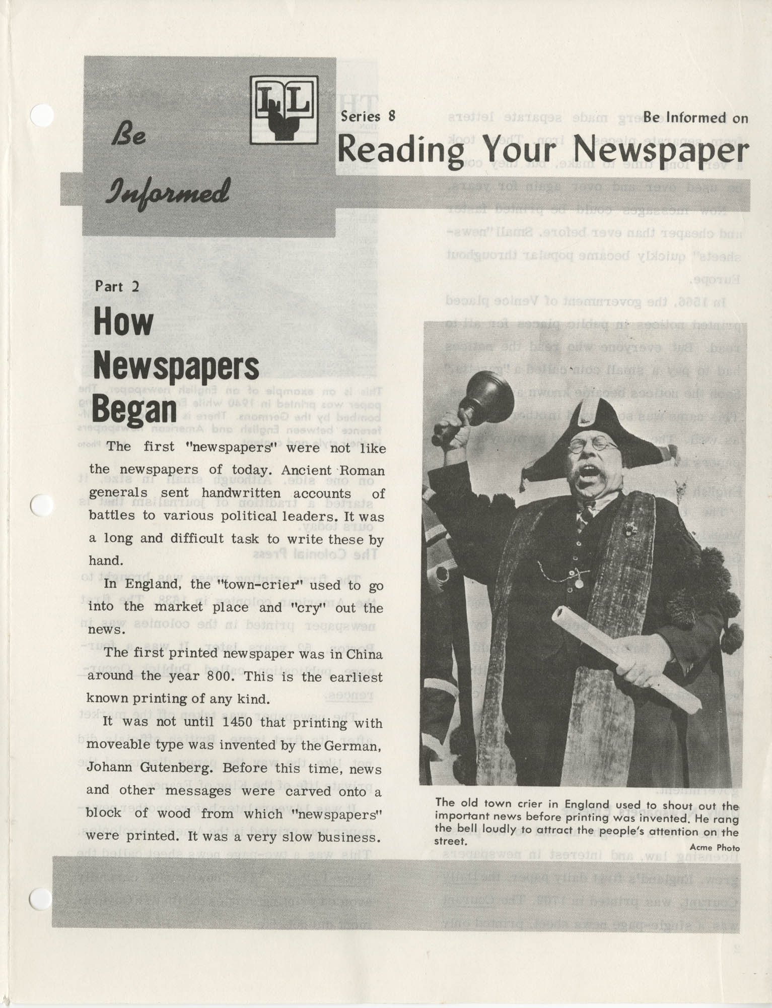 Be Informed, Reading Your Newspaper, Part 2