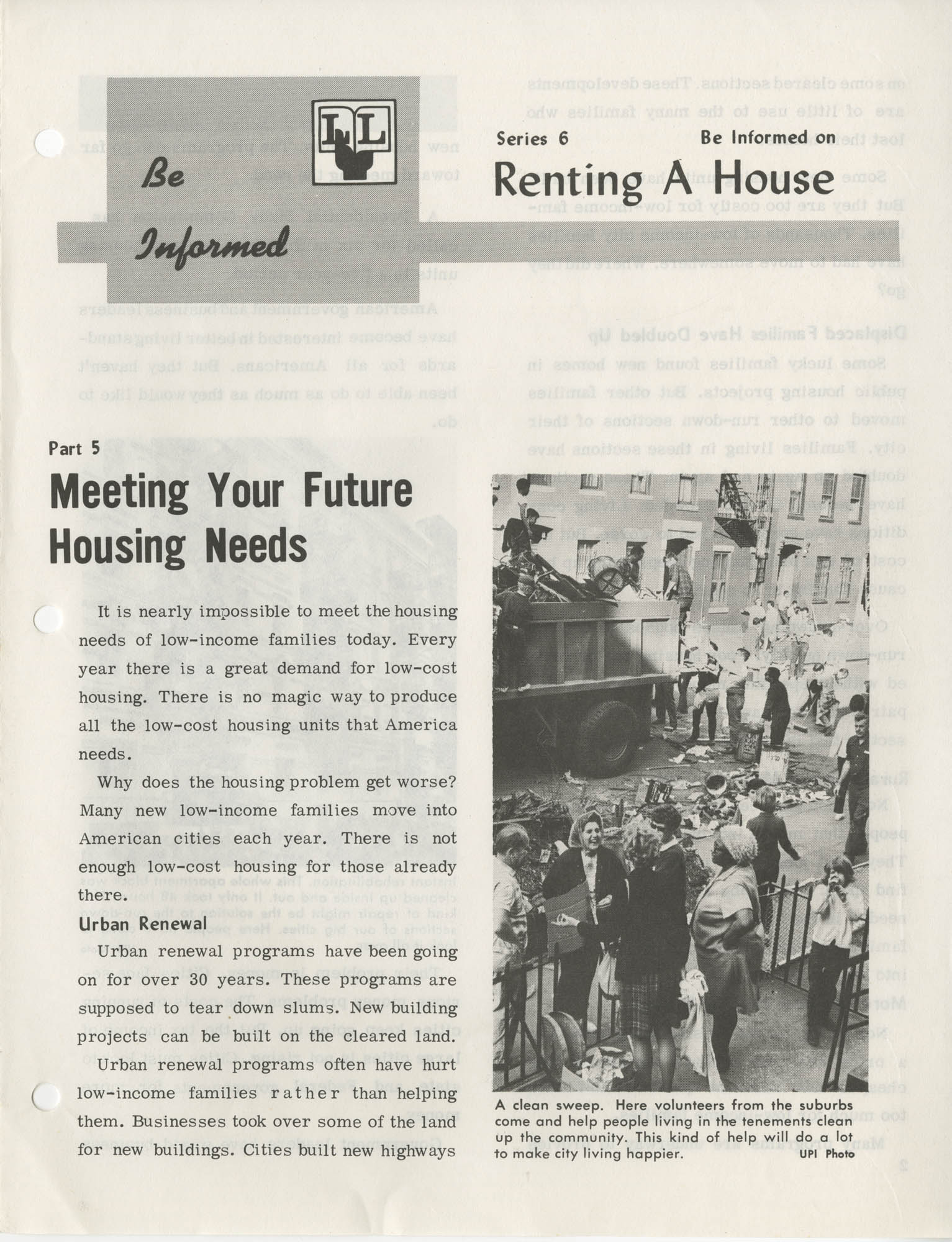 Be Informed, Renting A House, Part 5
