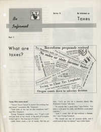 Be Informed, Taxes, Part 1