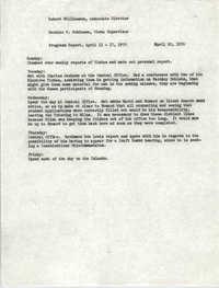 VISTA Progress Report, Week of April 13-17, 1970