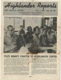 Highlander Reports, October 1960 to September 1961