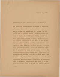 Memorandum to Mrs. Edmunds from P. J. McCahill