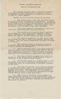 Historic Charleston Foundation Plan for the Revolving Fund