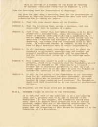 Plan as adopted at a meeting of the Board of Trustees of Historic Charleston Foundation on February 6, 1957